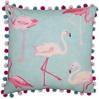 Riva hjem Flamingo Pom Pom kanter firkantede pudebetræk