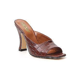 Paris Texas Px207xcag22832 Women's Brown Leather Slippers