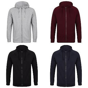 SF Unisex Adults Slim Fit Zip Hooded Sweatshirt