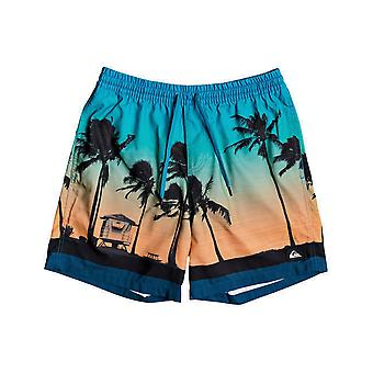 Quiksilver Paradise Volley 17 Elasticated Boardshorts in Majolica Blue
