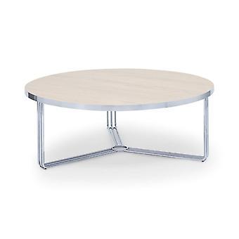 Gillmore Deco - Grande table à café circulaire avec divers hauts en bois et options de couleurs de cadre