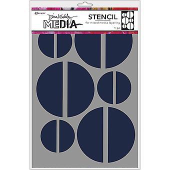 """Dina Wakley Media Stenciler 9&X6"""" - Stora halvor"""
