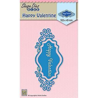 Nellie's Choice Shape Die Happy Valentine SDB028 90x62mm