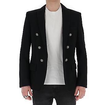 Balmain Th17360j1890pa Men's Black Viscose Blazer