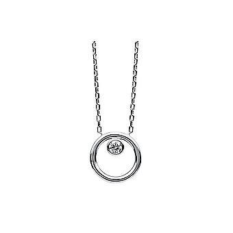 Diamantcollier  Collier - 14K 585/- Weissgold - 0.09 ct.