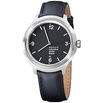 Mondaine Helvetica No1 - MH1.B1220.LB - Bold Heren Horloge