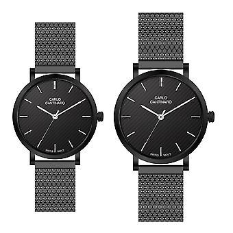 Carlo Cantinaro CC3001SM001 Partner Set Women's Watch Men's Watch