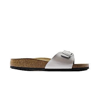 Birkenstock Madrid Silver Womens Slip On Mule Sandals