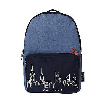 Friends New York Skyline and Lobster Denim Backpack