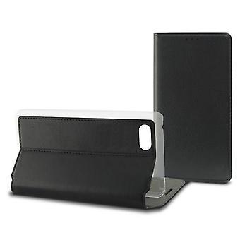 Mobiele cover case Iphone 7/8 Contact Slim Zwart Textiel Polycarbonaat