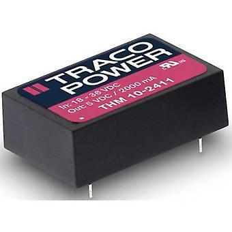 TracoPower THM 10 DC/DC-konverter (print) 1000 mA 10 W Nr. af udgange: 2 x