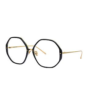 Linda Farrow Alona LFL901 C10 Black Yellow Gold Glasses