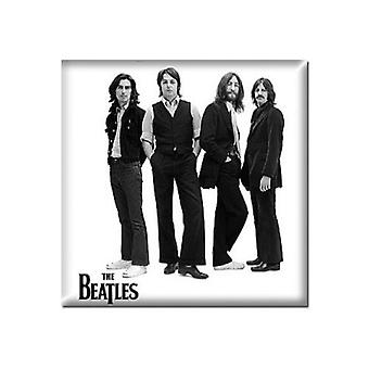 The Beatles Fridge Magnet White Iconic Image new Official 76mm x 76mm