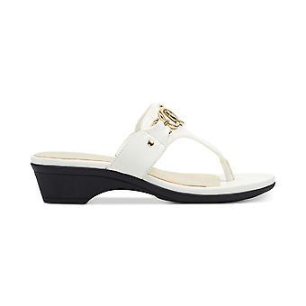 Marc Fisher Womens Ariana couro Split Toe casual slide sandálias