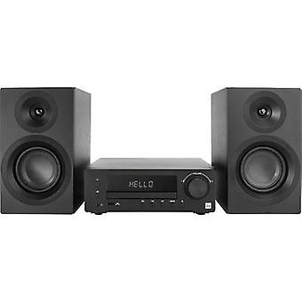 Dual DAB-MS 170 Audio systeem Bluetooth, CD, DAB+, FM, USB, AUX, Incl. luidsprekerbox 2 x 25 W Zwart