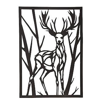 35x0.15x50 cm Metall Metall Hirsch Farbe Wanddekoration