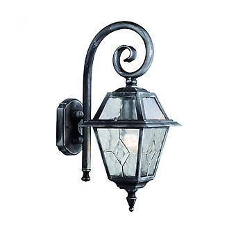 Genoa Wall Lamp 19 Cm, In Aluminum And Glass, Black Silver