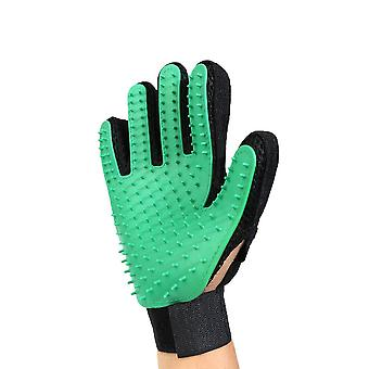 Green Right Hand Silicone Pet Grooming Glove