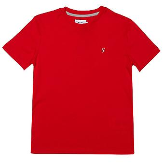 Boy's Farah Junior Denny T-shirt in rood