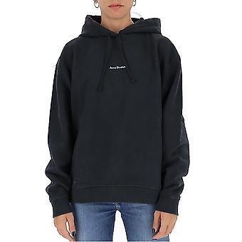 Acne Studios Ai0070black Kvinnor's Svart bomulls sweatshirt