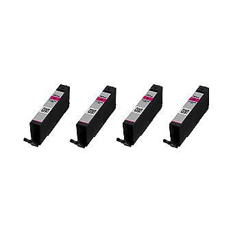 RudyTwos 4x Replacement for Canon CLI-581MXXL Ink Unit Magenta(ExtraHighYield) Compatible with Pixma iP4850, iP4950, iX6550, MG5150, MG5250, MG5300, MG5320, MG6150, MG6250, MG6220, MG8170, MG8150, MG8