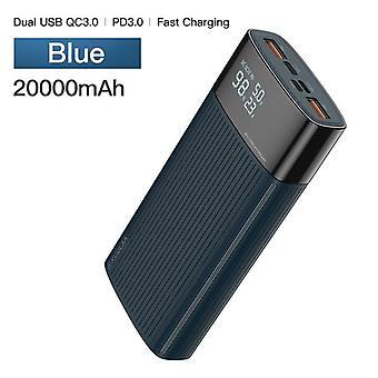 Power Bank - USB külső akkumulátortöltő 20000mAh QC PD 3.0 Xiaomi Mi 10 9| Power Bank