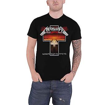 Metallica T Shirt Master of Puppets Cross Band Logo novo Official Mens Black