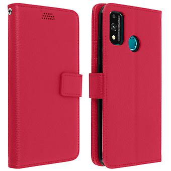 Honor 9X Lite Folio case with video support -Pink