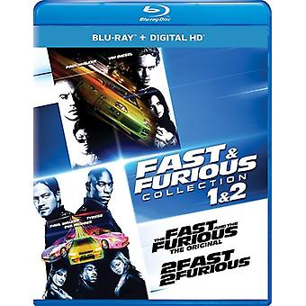 Snel & Furious collectie: 1 & 2 [Blu-ray] USA import