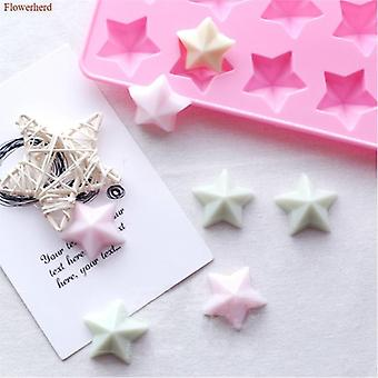 3d Stars Handmade Flexible Silicone Soap Mold - Diy Chocolate Biscuit Fondant