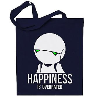 Happiness Is Overrated Hitchhikers Guide Totebag