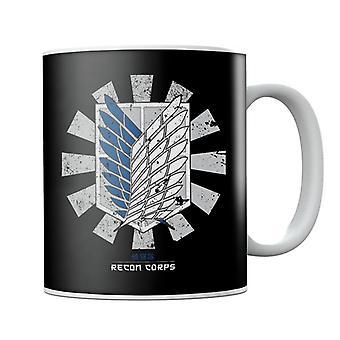 Recon Corps Retro Japanese Attack On Titan Mug