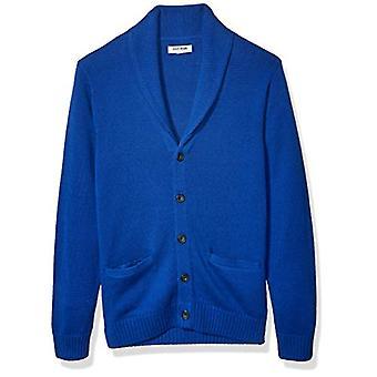 Brand - Goodthreads Men's Soft Cotton Shawl Cardigan Sweater, Bright B...