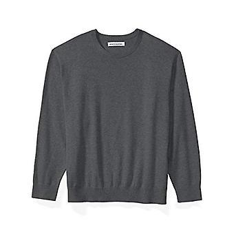 Essentials Mænd & S Big & Tall Crewneck Sweater passer af DXL, Charcoal Heat ...