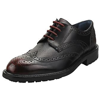 Ted Baker Therund Mens Brogue Shoes in Dark Red