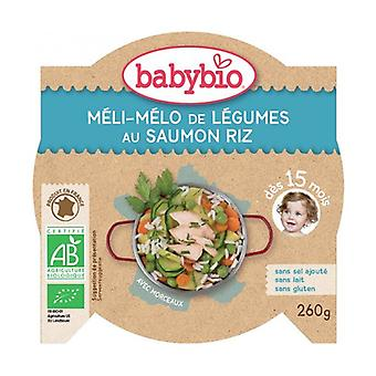 Menu Méli Mélo Of Vegetables With Salmon Organic Rice (from 15 months) 260 g