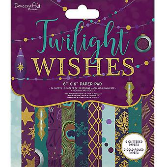 Dovecraft Twilight Wishes 6x6 Inch Paper Pad