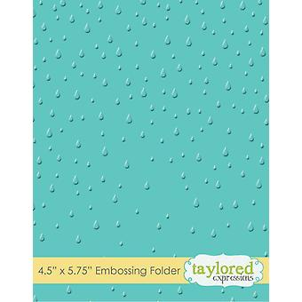 Taylored Expressions Raindrops Embossing Folder
