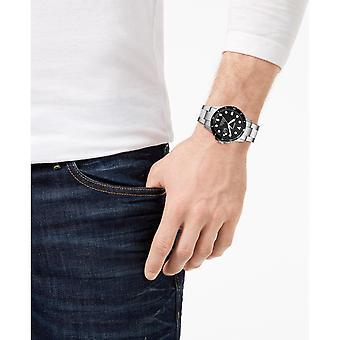 Fossil FS5652 Drei-Hand-Datum Edelstahl Uhr Herren's Uhr