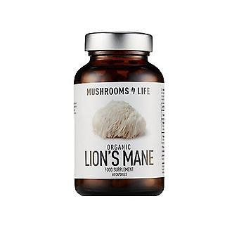 Mushrooms4Life Organic Lion-apos;s Mane Caps 60 (ML0005)