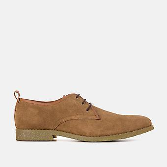 Lewis chestnut suede desert shoes