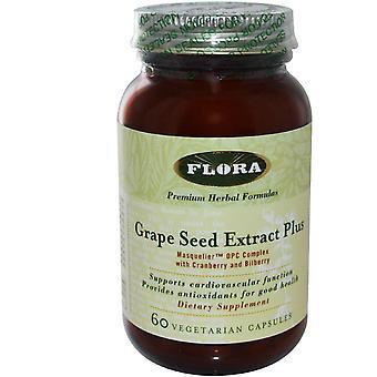 Flora, Grape Seed Extract Plus, 60 Veggie Caps