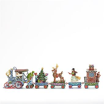 Holiday Express Train 5 Pc Set Christmas Collectible Beeldje