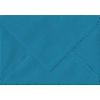 "Benzin blå gummierede 5 ""x 7"" farvet blå konvolutter. 100gsm schweiziske Premium FSC-papir. 135 mm x 191 mm. bankmand stil kuvert."