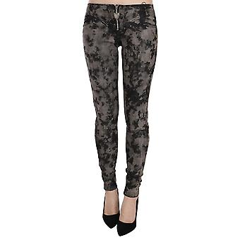 Just Cavalli Black Gray Faded Low Waist Skinny Denim Trousers Jeans