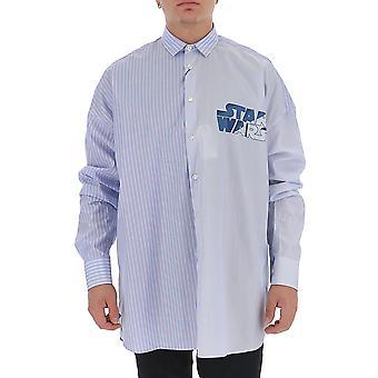 Etro 1k25571280200 Men's Light Blue Cotton Shirt