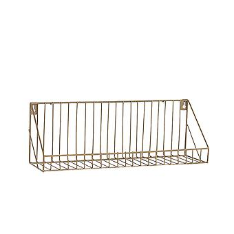 Creative Wall-mounted Iron Storage Racks Home Decoration Small Gold