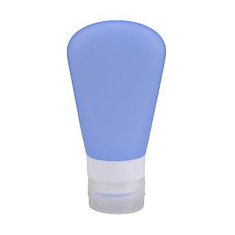 Dark Blue Silicone Travel Bottle  3 fl oz with Locking Cap