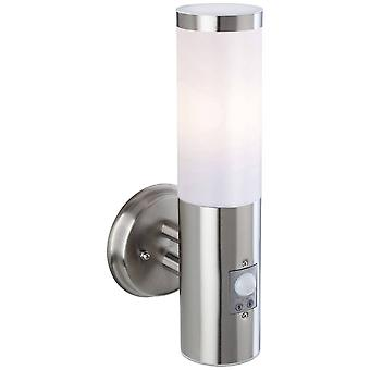 Firstlight Plaza - 1 licht buitenmuurlicht, PIR Stainless Steel IP44, E27