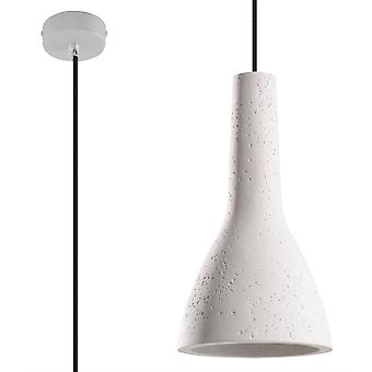 Sollux - 1 domo claro techo colgante blanco, E27